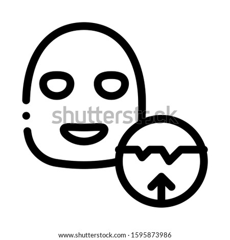 Wrinkle Smoothing Mask Icon Vector. Outline Wrinkle Smoothing Mask Sign. Isolated Contour Symbol Illustration