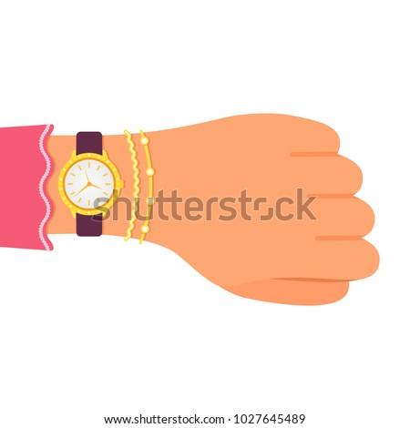 wrist watch with diamonds on