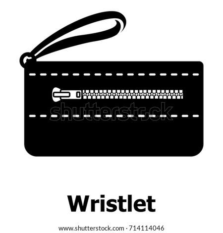 Wristlet bag icon. Simple illustration of wristlet bag vector icon for web