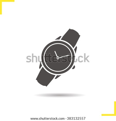 wristwatch icon drop shadow