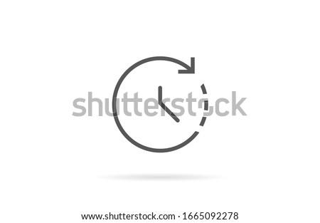wristwatch icon line drop