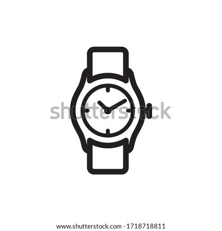 wristwatch icon vector symbol template Сток-фото ©