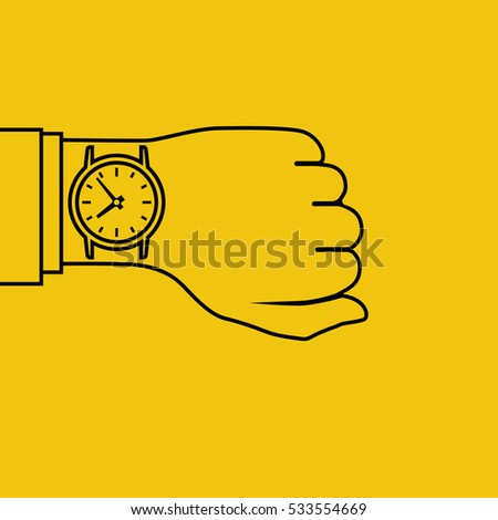 wristwatch on hand of