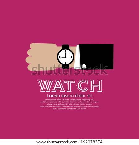 wristwatch vector illustration