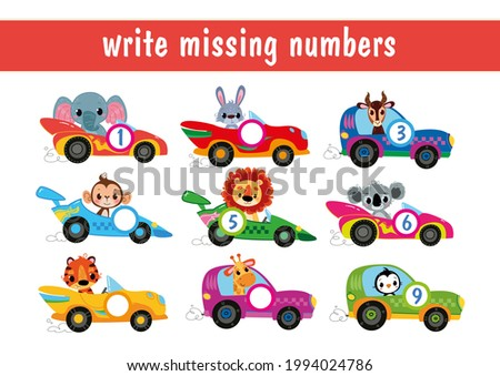 write down the missing numbers