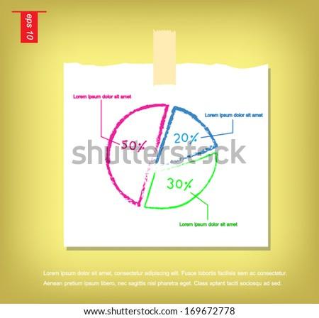 write hand vector graph circle