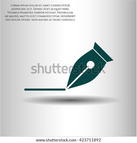 Writer icon vector symbol flat eps jpg app web concept website