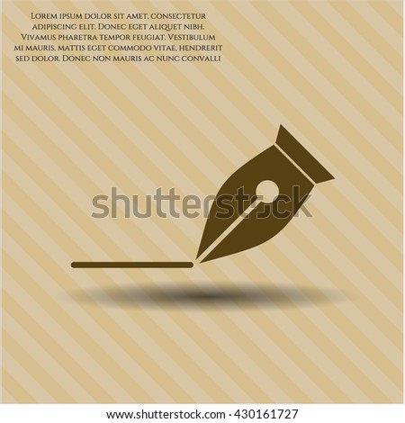 Writer icon vector symbol flat eps jpg app web concept website