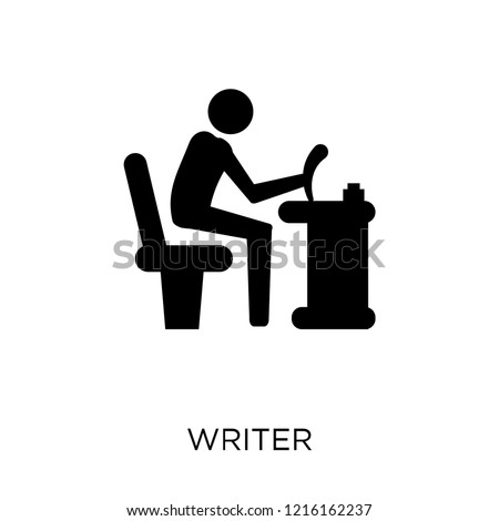 Writer icon. Writer symbol design from Professions collection. Simple element vector illustration on white background.