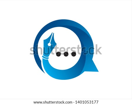 Writer Talk, Forum or Community Logo Template, Icon, Symbol