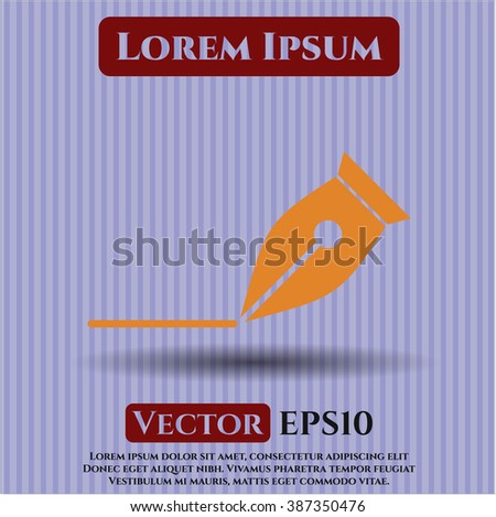 Writer vector symbol