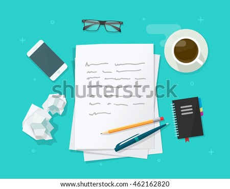 writer workplace vector