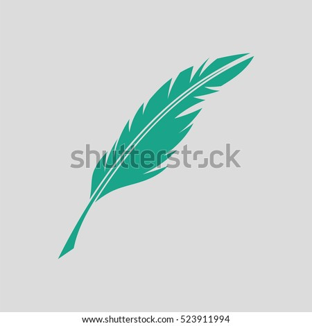 writing feather icon gray