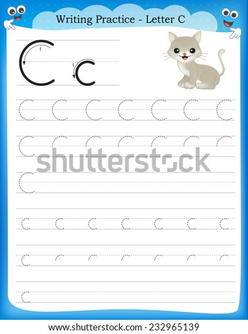 Writing Practice Letter C Printable Worksheet For Preschool ...