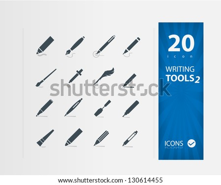 Writing Tools 2  ( Set of 20 Quality icons )