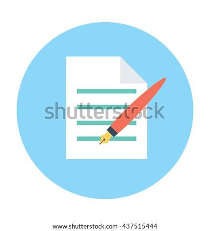 Writing Vector Icon #437515444