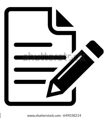 writing vector icon