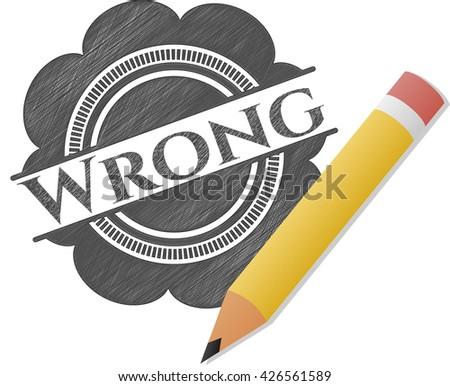 Wrong emblem drawn in pencil