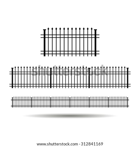 wrought fence icon vector