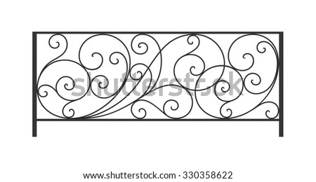wrought iron balcony fence