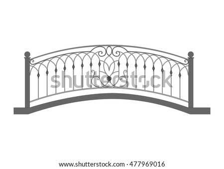 wrought iron bridge
