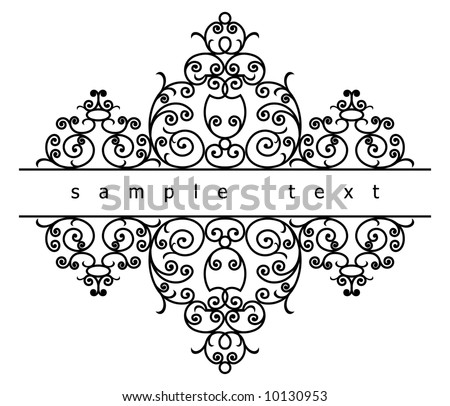 wrought iron elements (vector)