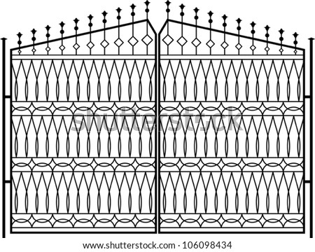 stock-vector-wrought-iron-gate-door-fence-window-grill-railing-design