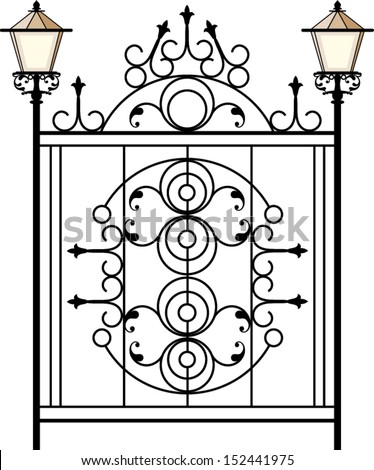 Wrought Iron Gate, Door, Fence, Window, Grill, Railing Design Stock ...
