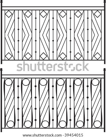 Wrought Iron Gate, Door, Fence, Window, Grill, Railing design - stock ...