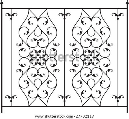 Wrought Iron Railing Fence Design
