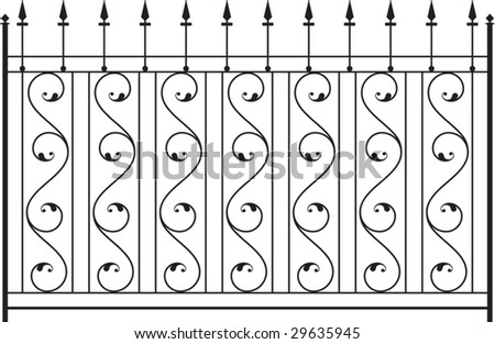 Baluster, iron design are