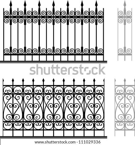 wrought iron modular railings