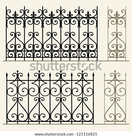 wrought iron modular railings