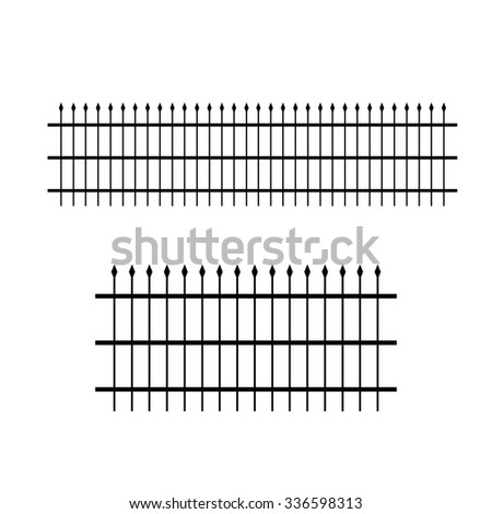 wrought iron patterned fence