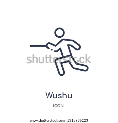 wushu icon from sports outline