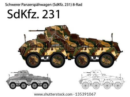 ww2 german sdkfz 231 armored