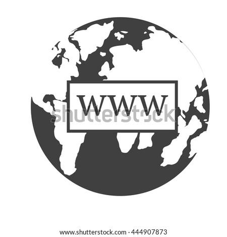 www icon  internet sign icon