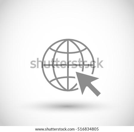 WWW icon vector