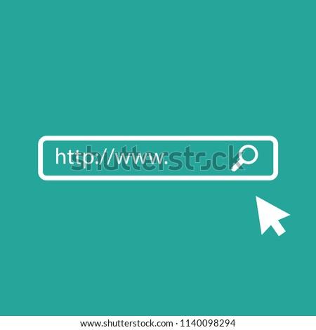 WWW icon. Web site icon. WWW with arrow Stock photo ©