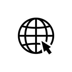 WWW Icon. World Wide Web Vector, Internet Access Sign Icon Vector