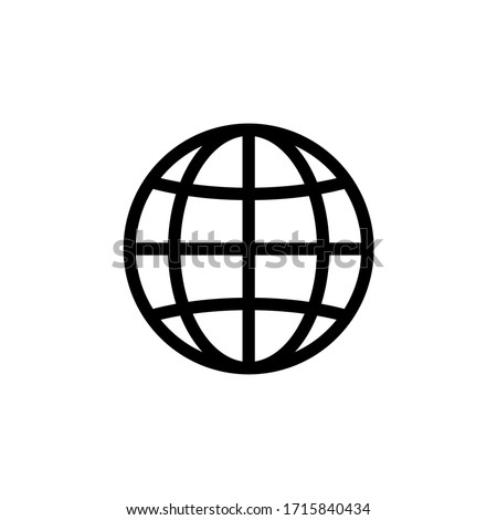 WWW Icon. World Wide Web Vector, Internet Access Sign Icon Vector