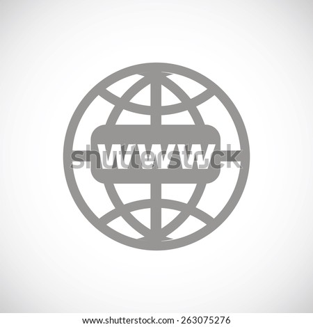 Www icon. Www flat icon vector illustration. Web site sign