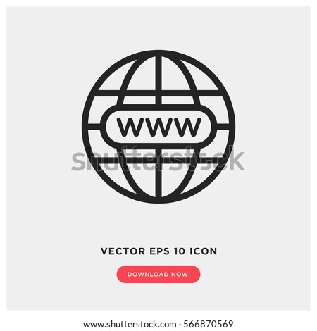www vector icon, website symbol. Modern, simple flat vector illustration for web site or mobile app