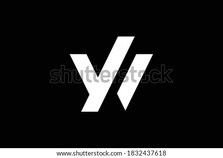 WY letter logo design on luxury background. YW monogram initials letter logo concept. WY icon design. YW elegant and Professional letter icon design on black background. Y W WY YW Foto stock ©