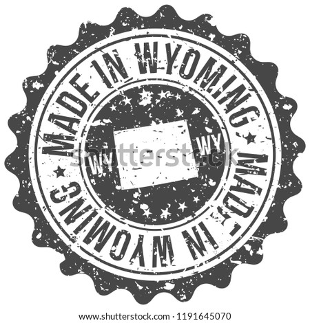 Wyoming Made In Map Travel Stamp Icon City Design Tourism Export Seal
