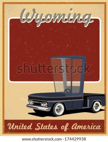 wyoming road trip vintage...