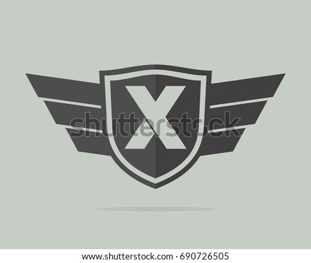 x initial badge team template