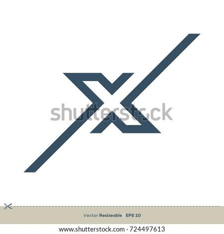 X Letter vector Logo Template