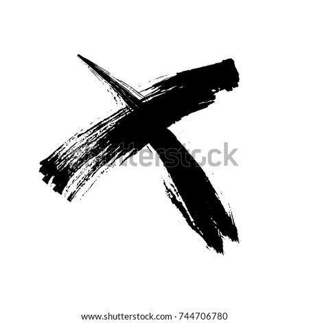 x marks .two crossed vector...