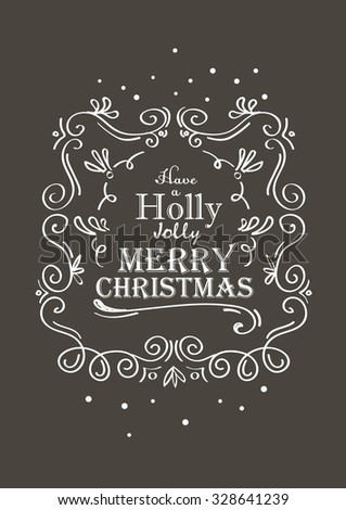 X-mas lettering card #328641239